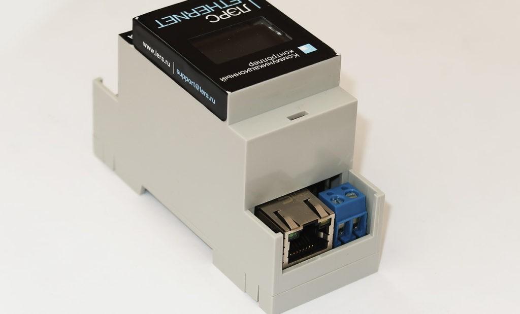 Контроллер ЛЭРС Ethernet подключение RJ45 и ввод питания 220В
